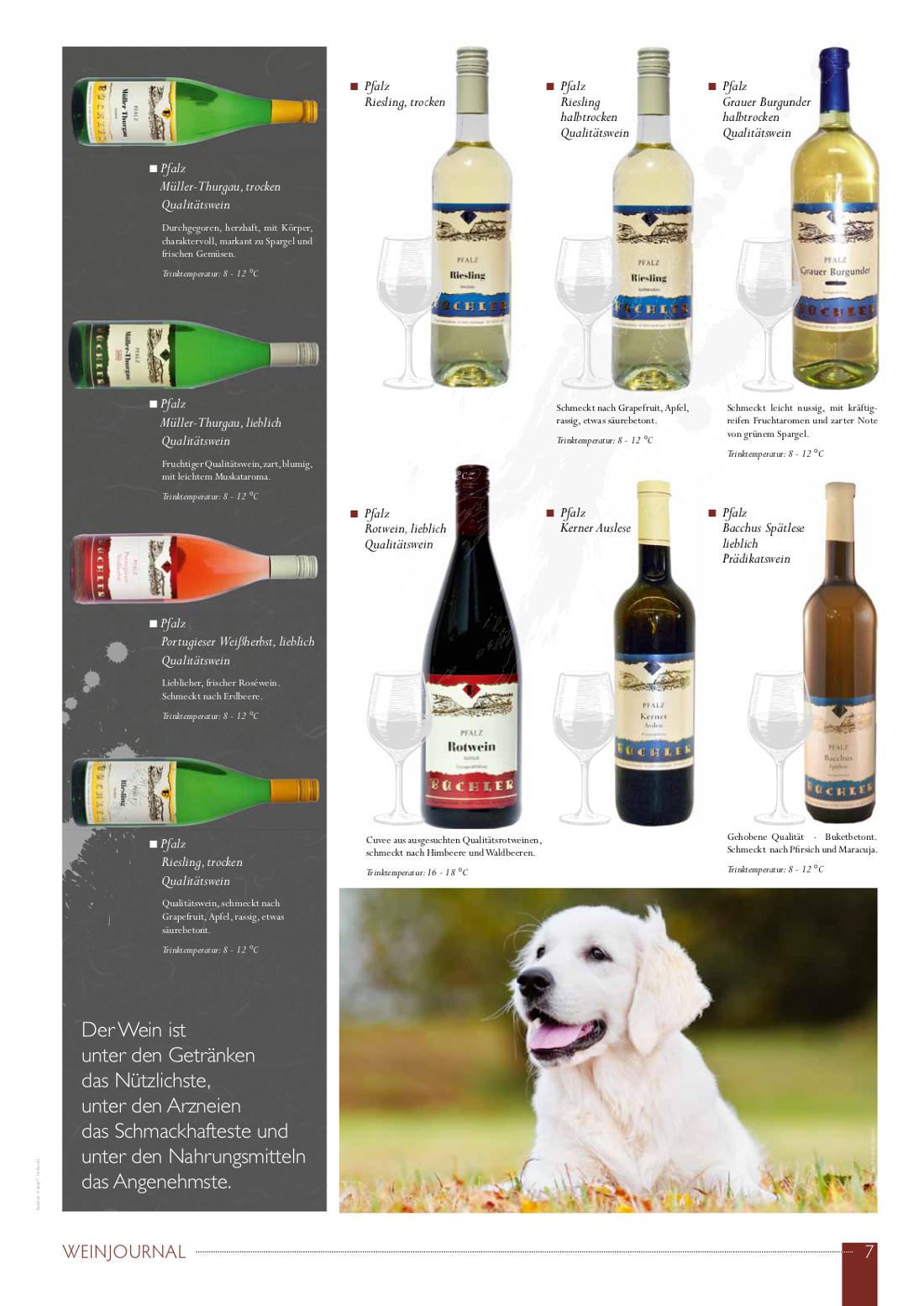 Weinjournal Teil 2 von Weingut Büchler in Göcklingen