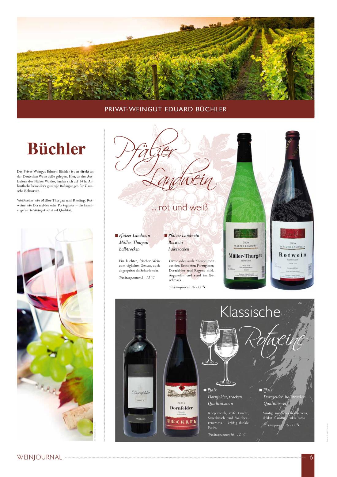 Weinjournal Weingut Büchler in Göcklingen